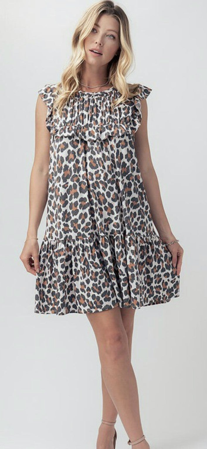 Lively Leopard Dress