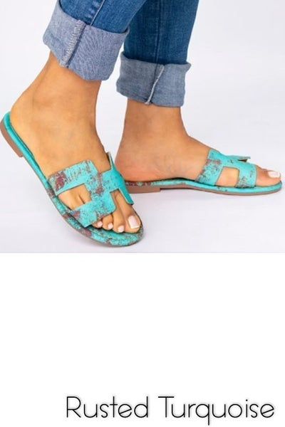 Rusted Turquoise Sandals