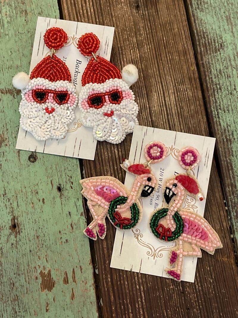 Beach Christmas Earrings