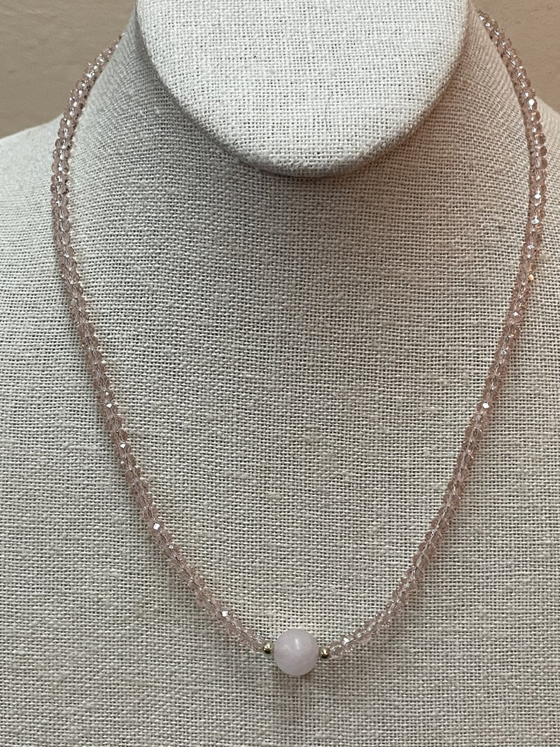 Just A Touch of Pink Necklace