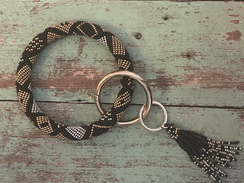 Beaded O-ring Keychains