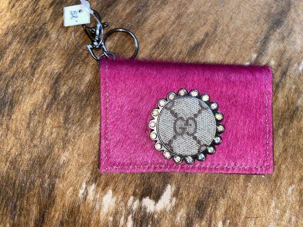 Upcycled Gucci card holder