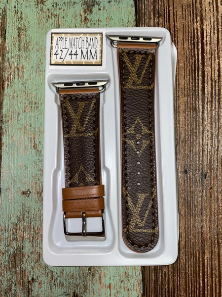 Upcycled LV Apple Watch Bands