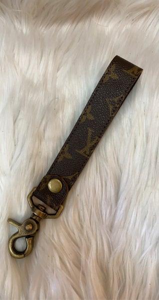 Upcycled LV Wristlet Keychain