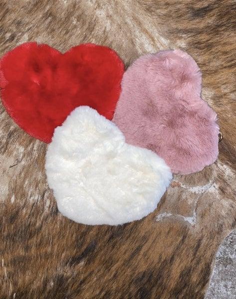 Fluffy Heart Bags
