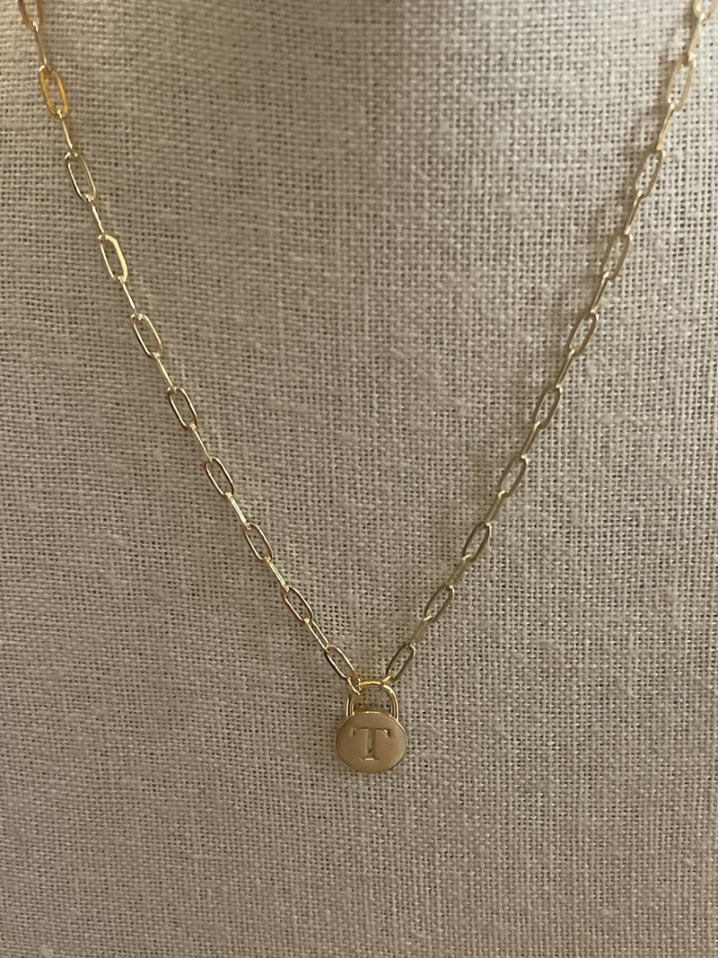 Initial Necklace -Gold