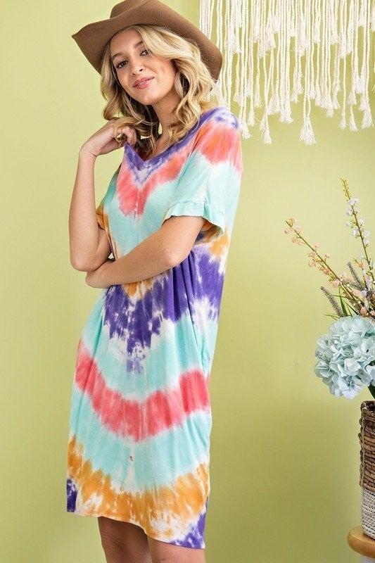Marble Falls Tie Dye Dress