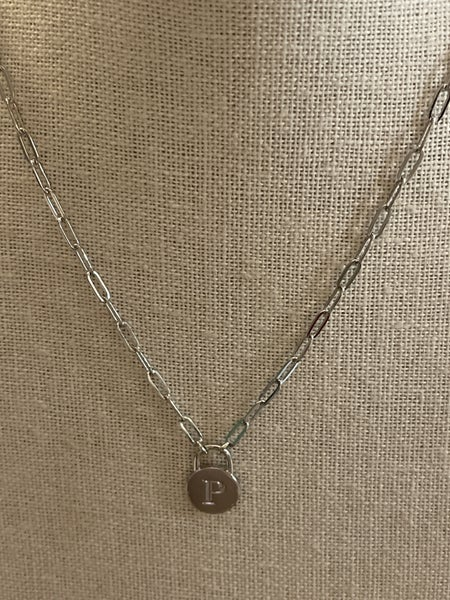 Initial Necklace- Silver
