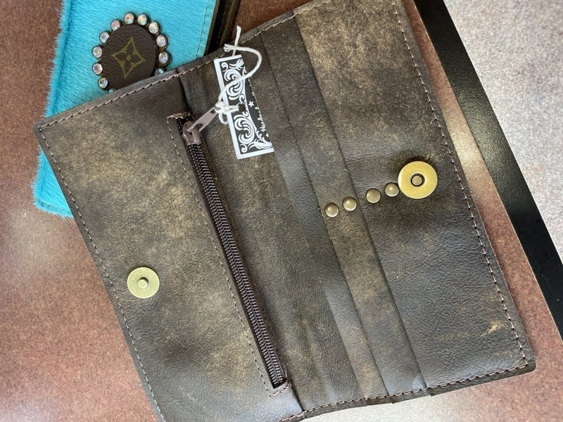 Upcycled LV wallet