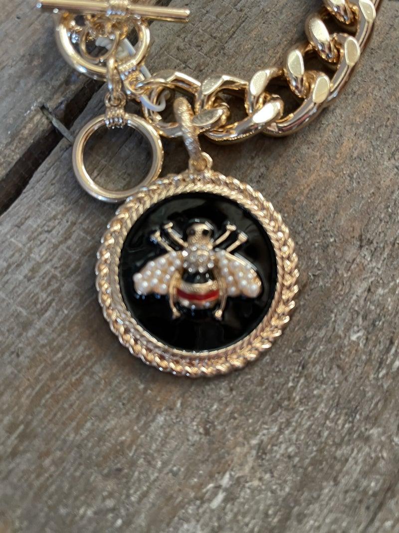 Inspired Bee  Charm Bracelet