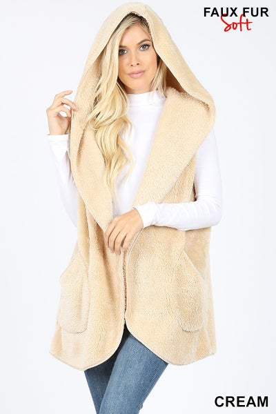 Curvy Girl Hooded Vest