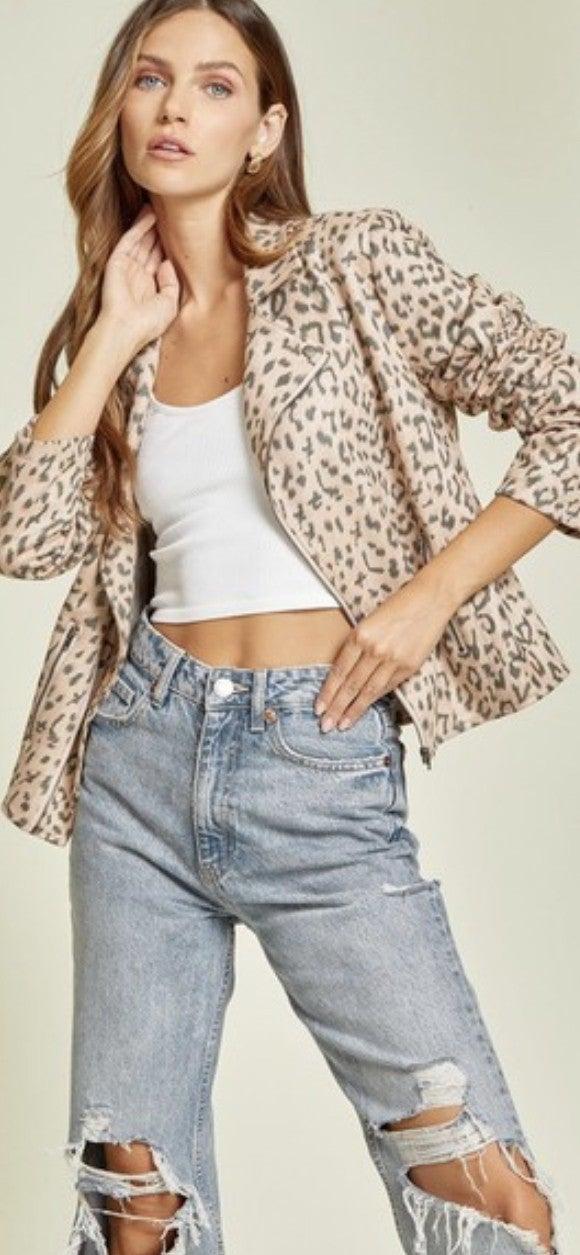 Leopard Motto Jacket