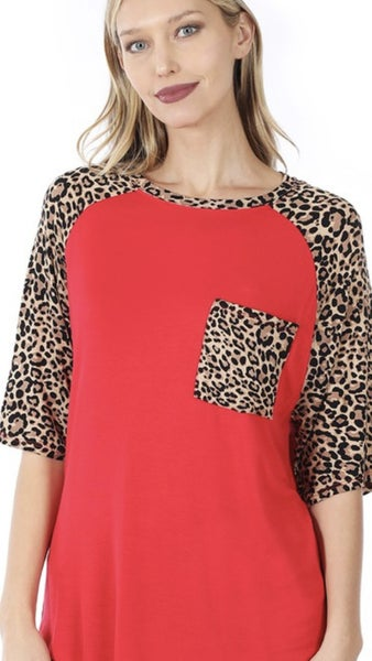 Red Hot Leopard Top
