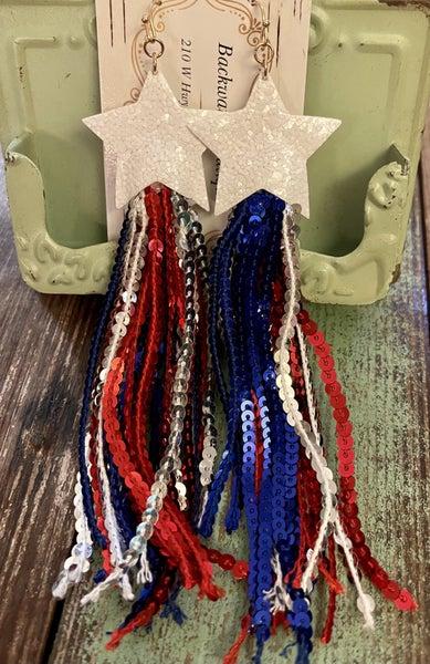 Patriotic Earrings *Final Sale*