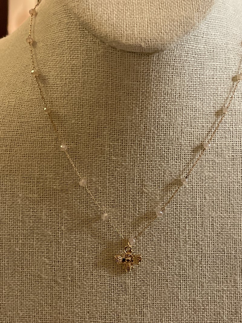 Simply Stated Bee Necklace