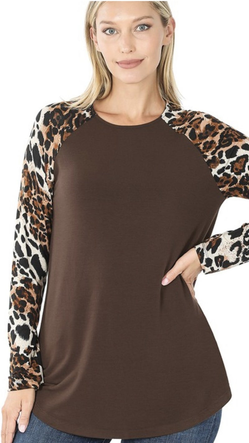 Brown Eyed Leopard Top