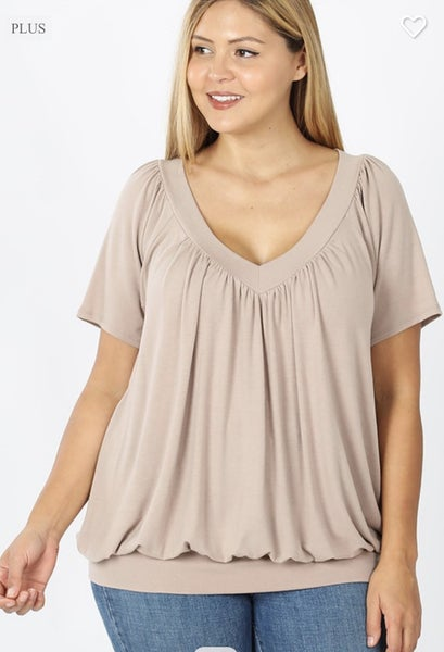 Curvy Pleated Top