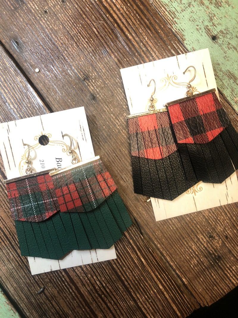 Plaid Earrings