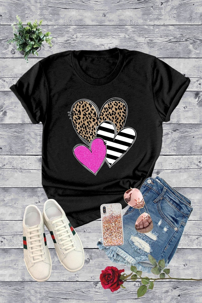 Three Hearts are Better Than One T Shirt