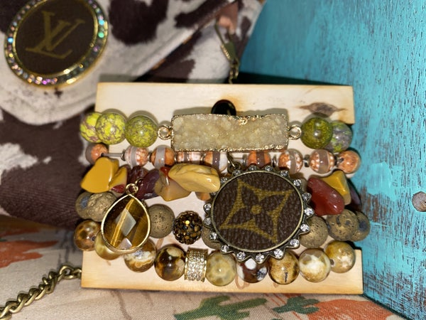 Upcycled LV Earthy Stack