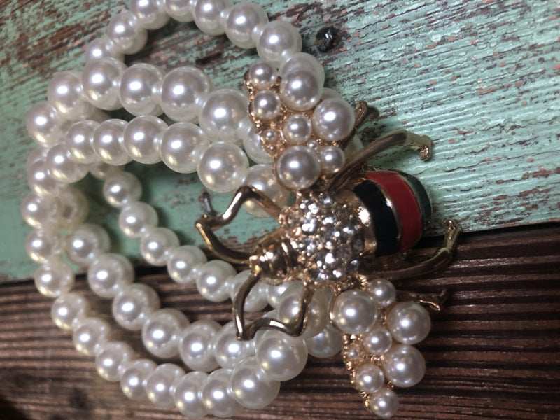 Designer Inspired Pearl Bracelet