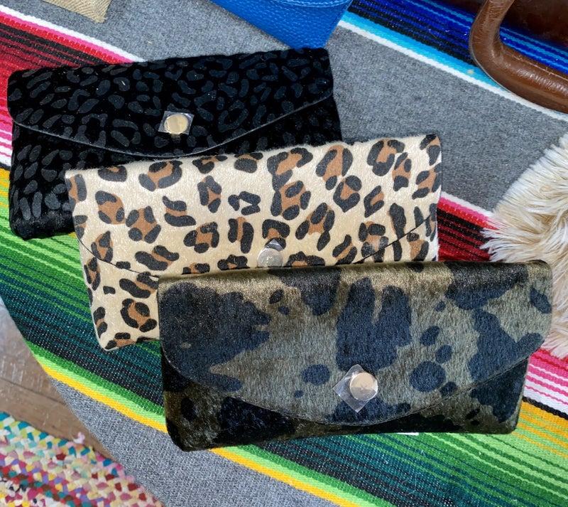 Faux Hide crossbody belt bags