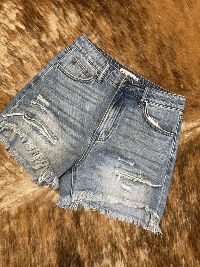 Stressed Mom Denim Shorts