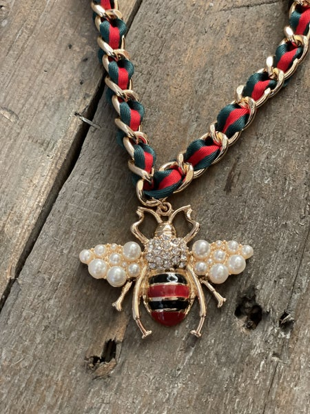 Inspired Bee Necklace