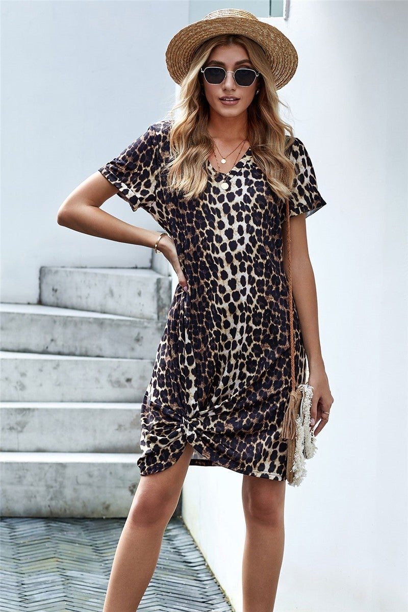 Knot your average Leopard Dress