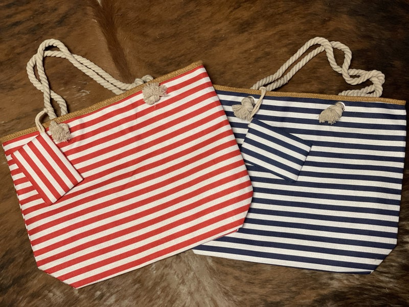 Stripes for Everyone Tote Bag with Coin purse