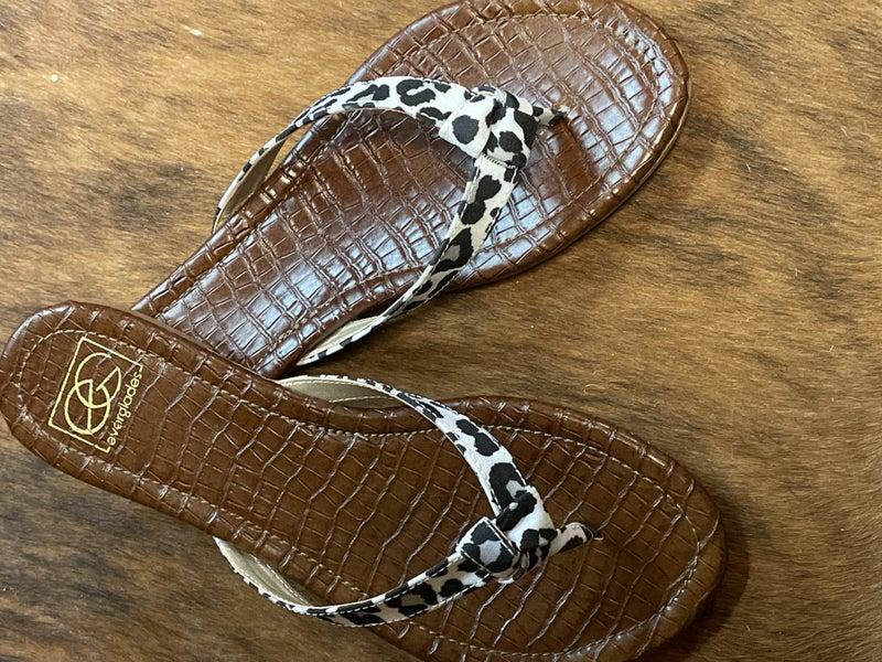 White Leopard Sandal