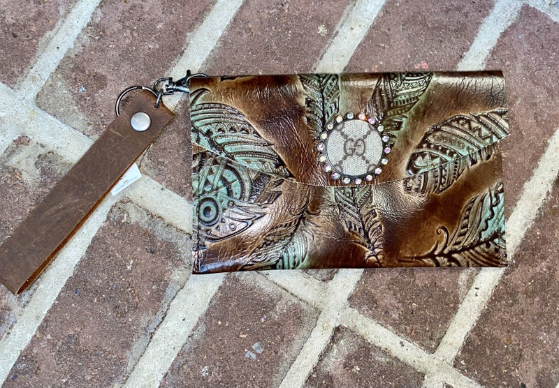 Upcycled Gucci Wristlet