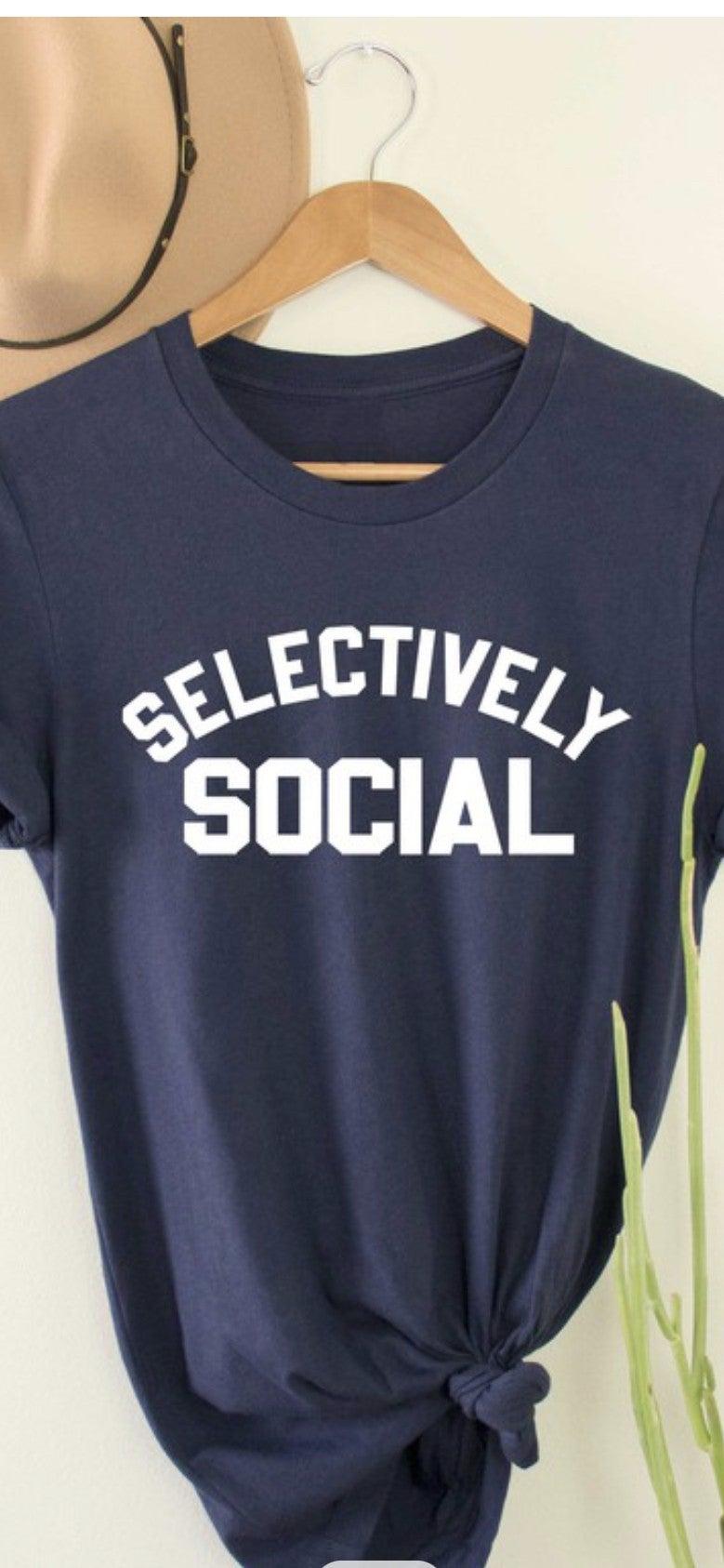 Selectively Social Tee