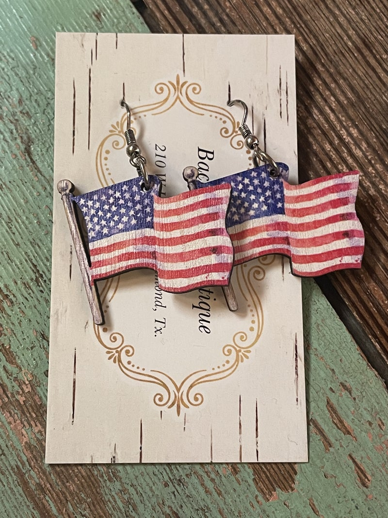 Wave the Flag Earrings