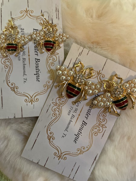 Designer Inspired Bee Earrings