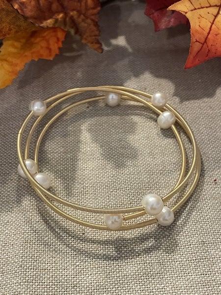 Wrapped it Up Pearl Bracelet