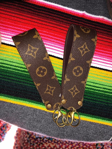 Upcycled LV Wide Strap Keychain