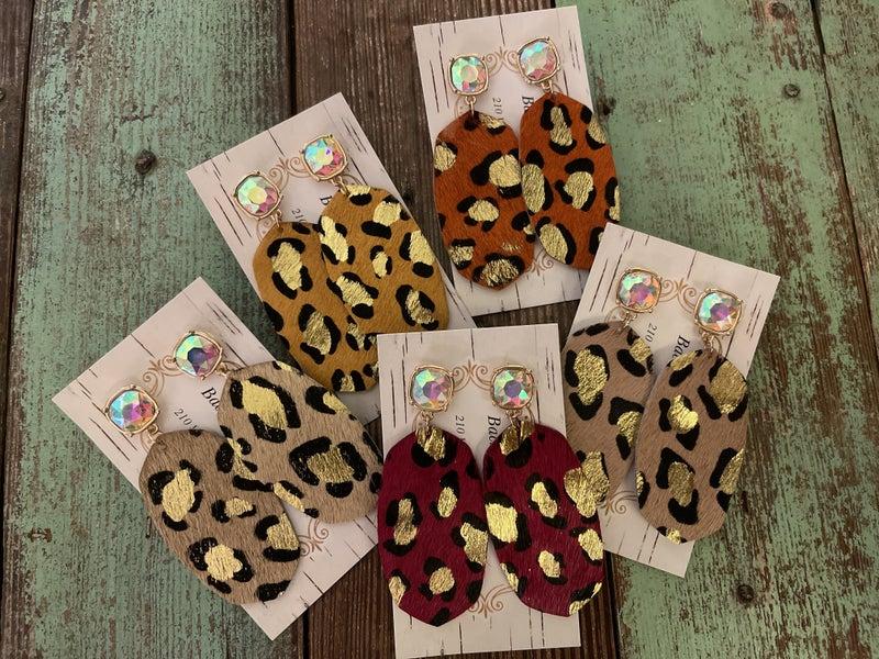 Blingy Leopard Earrings