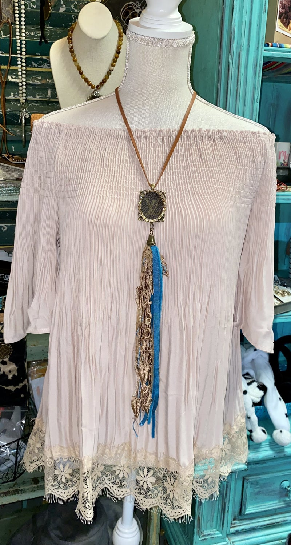 Upcycled LV Vintage tassel necklaces