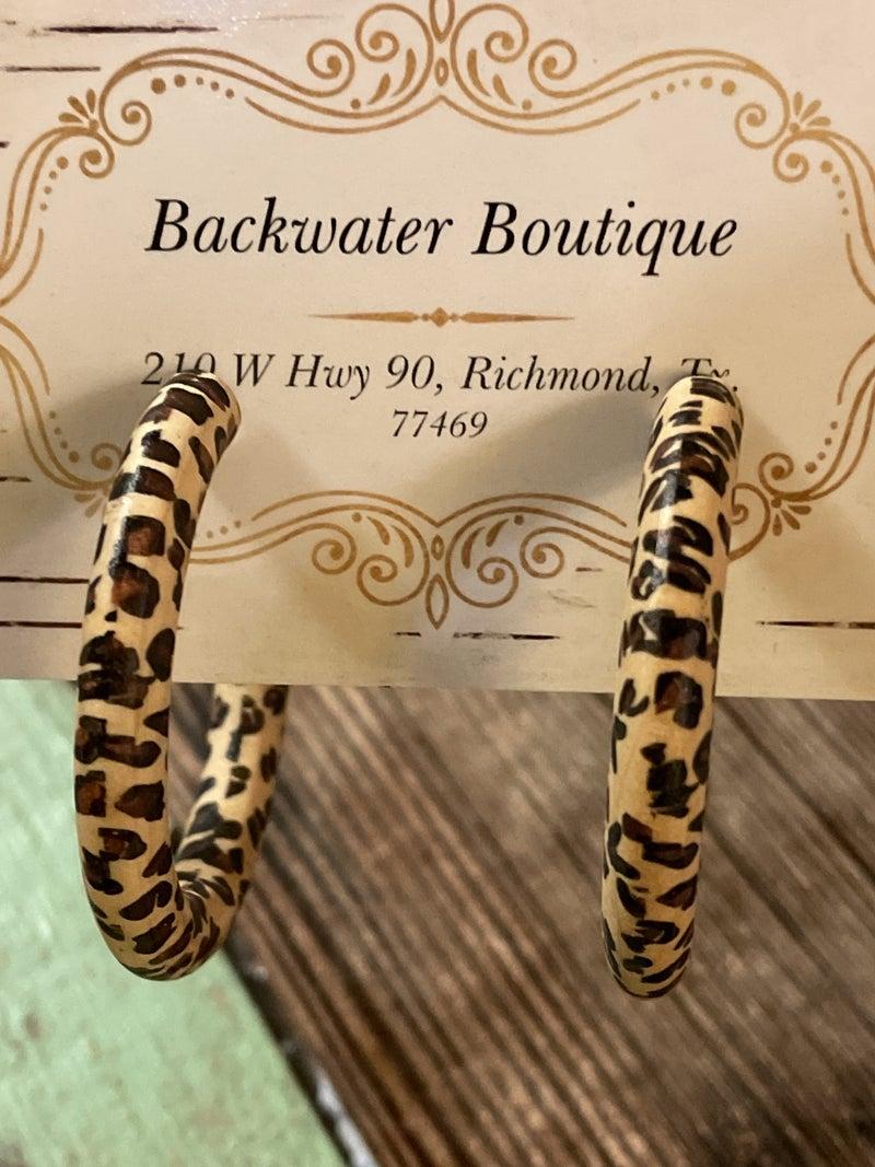 Wrap It Leopard Earrings