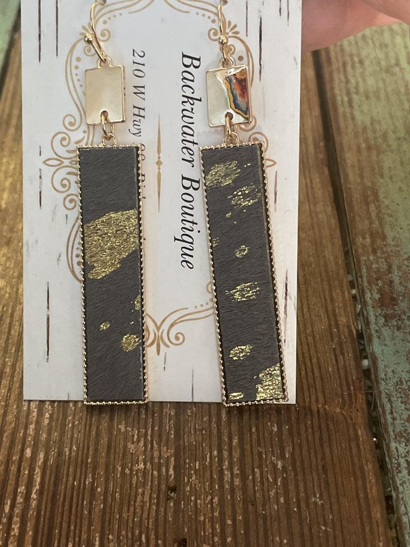 Golden Hide Earrings
