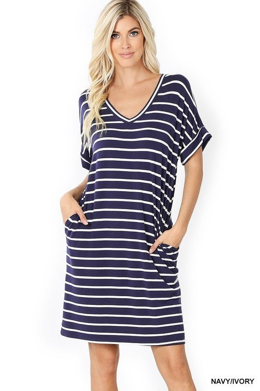 Hailey Stripe Dress