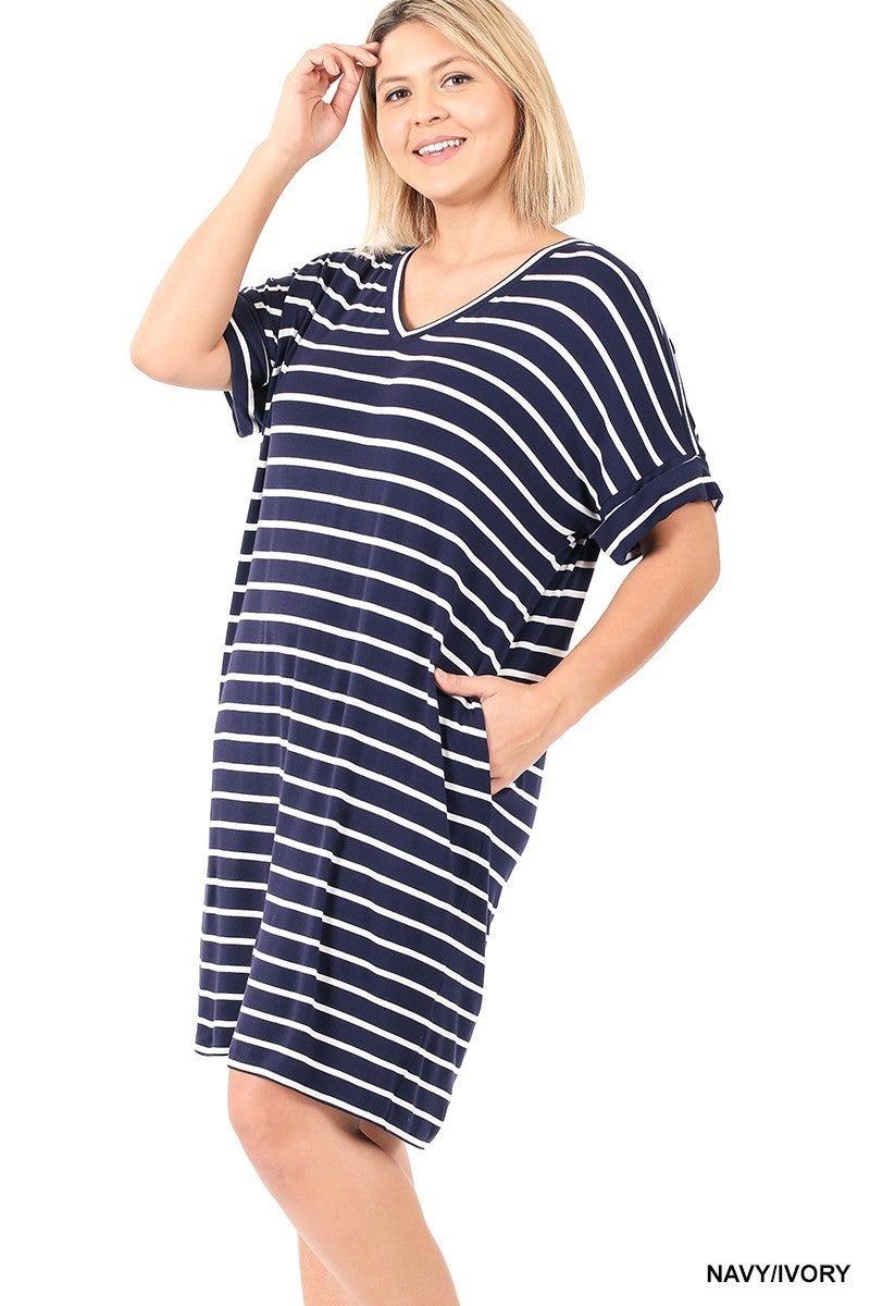 Curvy Girl Hailey Stripe Dress