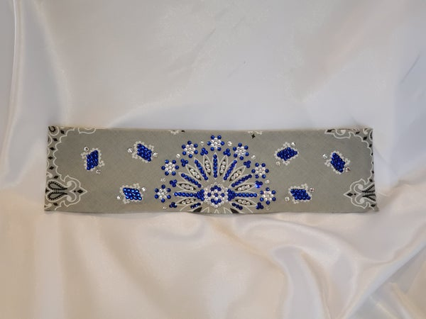 Silver LeeAnnette with blue and clear Swarovski crystals (Sku4884)