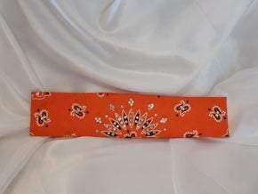 Bargain Bandana Narrow Bright Orange with Diamond Clear Crystals (Sku8031)