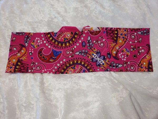 Pink Mardi Gras with Dark Purple, Blue, Yellow and Diamond Clear Swarovski Crystals (Sku1172)