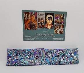 LeeAnnette Narrow Purple and Turquoise with Turquoise and Diamond Clear Swarovski Crystals(sku4936)