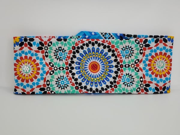 Bright Colored Geometric Design with Multi-Colors ofSwarovski Crystals (Sku1070)