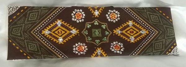 Aztec Brown Ellephant with Swarovski Crystals (Sku1176)