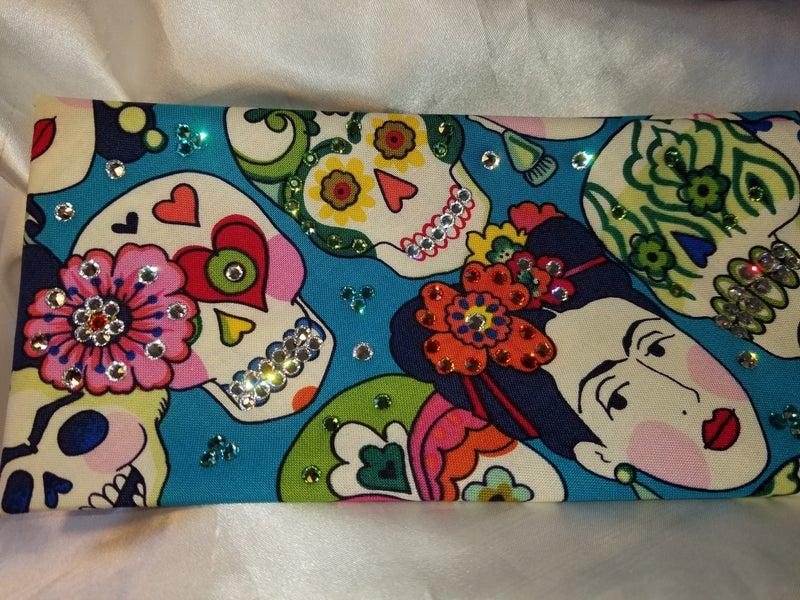 Frida Sugar Skull with Multi-colored Swarovski Crystals (Sku1790)